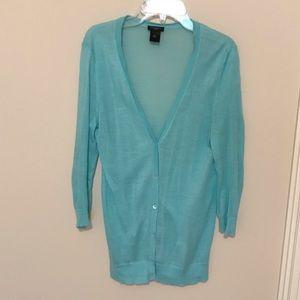 Ann Taylor Sweaters - Ann Taylor button up cardigan Light blue in medium